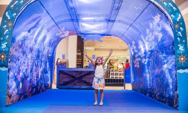 Exposição interativa leva visitantes ao fundo do mar no Palladium Curitiba