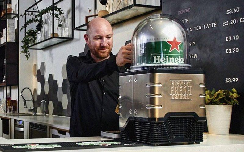 Heineken chopp em capsulas