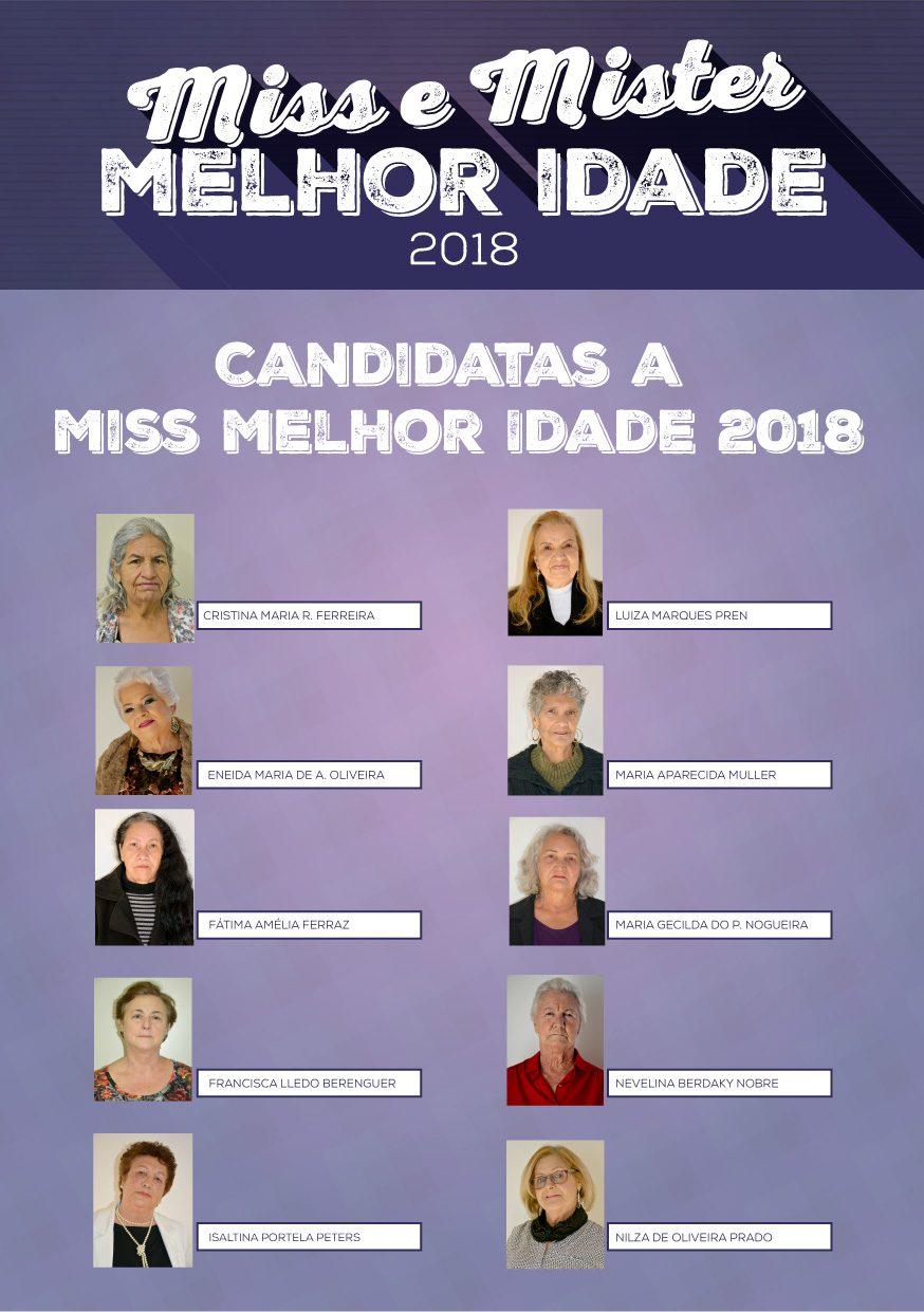 Candidatas Miss e Mister Melhor Idade