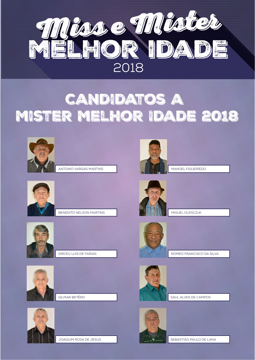 Candidatos Miss e Mister Melhor Idade