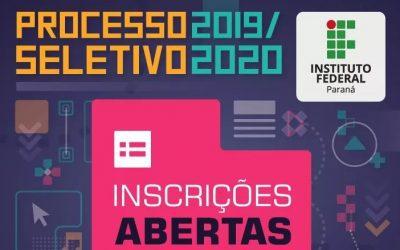 Instituto Federal do Paraná campus Pinhais abre inscrições para processo seletivo