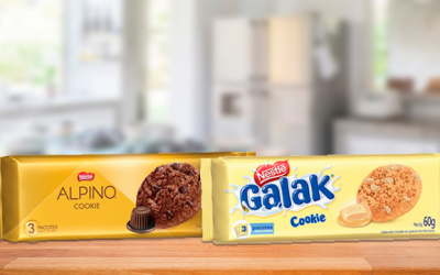 Nestlé lança cookies Galak e Alpino
