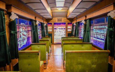 """Locomotiva do Shopping Estação faz """"viagem virtual"""" pela Serra do Mar"""