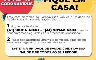Canal exclusivo para sanar dúvidas sobre Coronavírus está disponível para a população de Pinhais