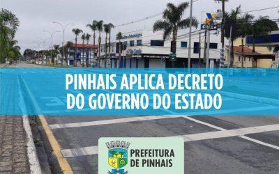 Pinhais aplica decreto do Governo do Estado